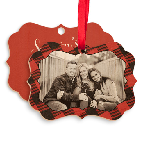 Wood Vintage Ornament 002