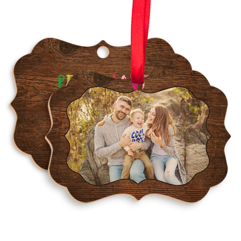 Wood Vintage Ornament 003