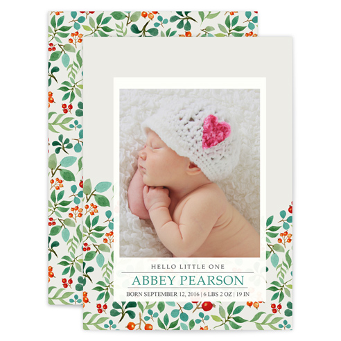 Cards & Stationery/Baby/Flat Cards