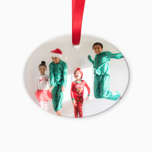 Glass Oval Ornament H 01