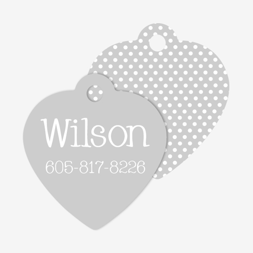 Pet Tag | Heart Design